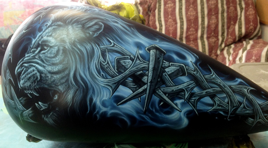 uncle-d-s-airbrushing-motorcycles-animals-2