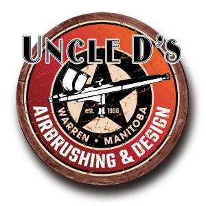 Uncle Ds Airbrushing and Design Logo